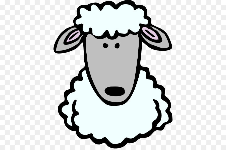 Sheep Mammal Clip art - My Listening Ears Template png download ...