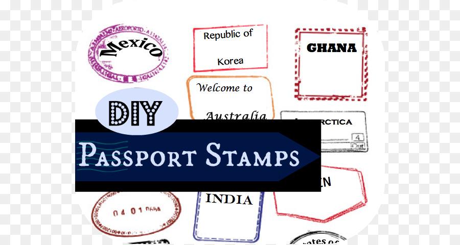 Passport stamp Template Australian passport Clip art - Passport ...