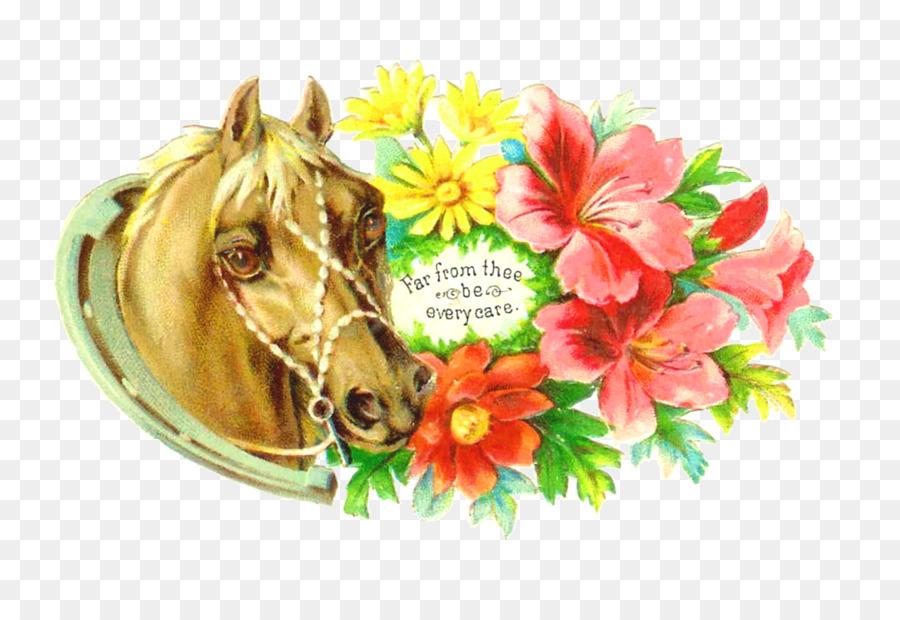 Horse Cut Flowers Flower Bouquet Clip Art Victorian Horse Cliparts