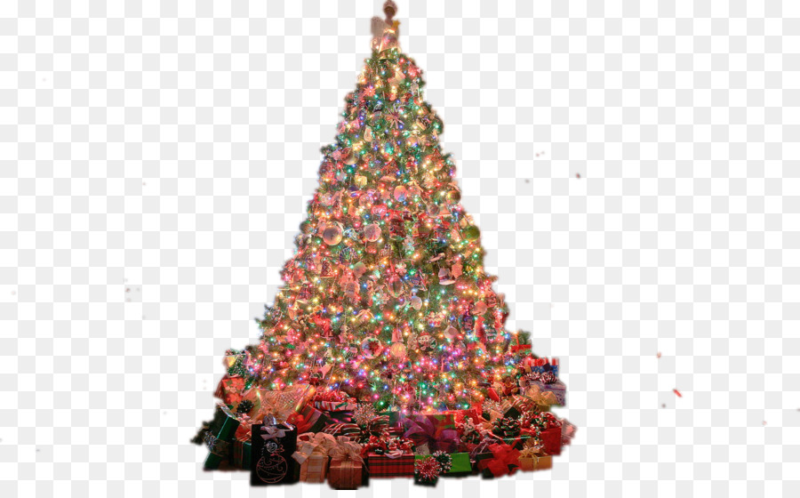 christmas tree desktop wallpaper display resolution high definition television christmas tree and lights - Christmas Computer Wallpaper