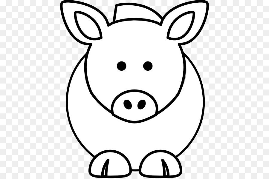 Cerdo doméstico Ganado libro para Colorear Dibujo de la Historieta ...