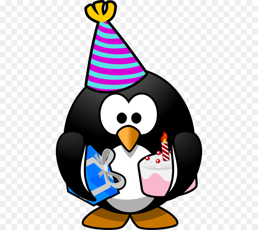 Penguin Birthday Party Gift Clip Art Birthday Hat Png Png Download