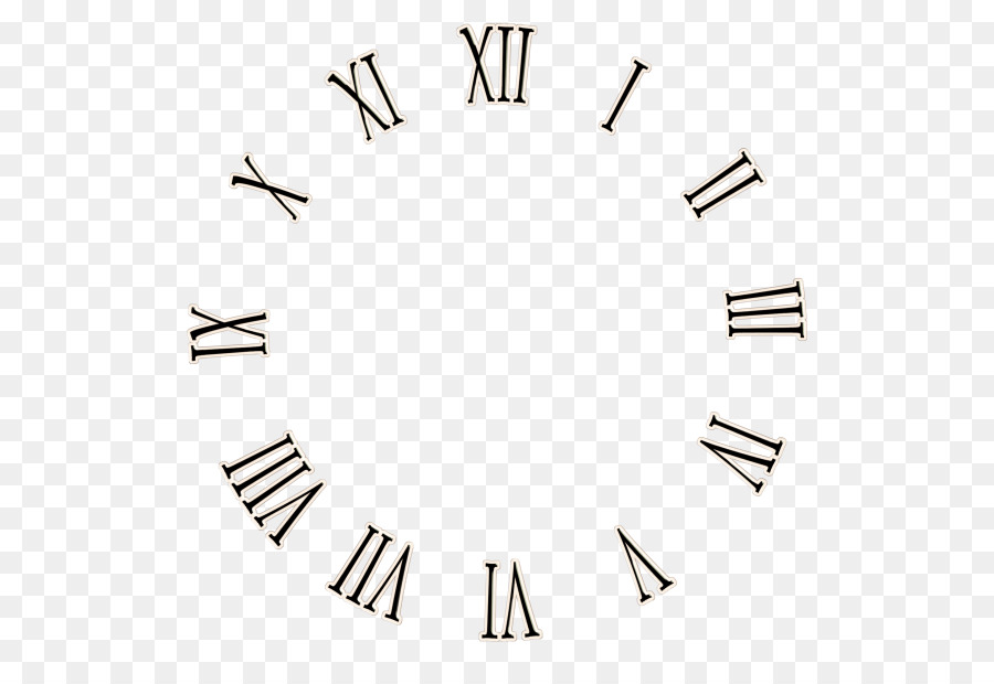 clock face roman numerals wall decal clip art - simple watch png