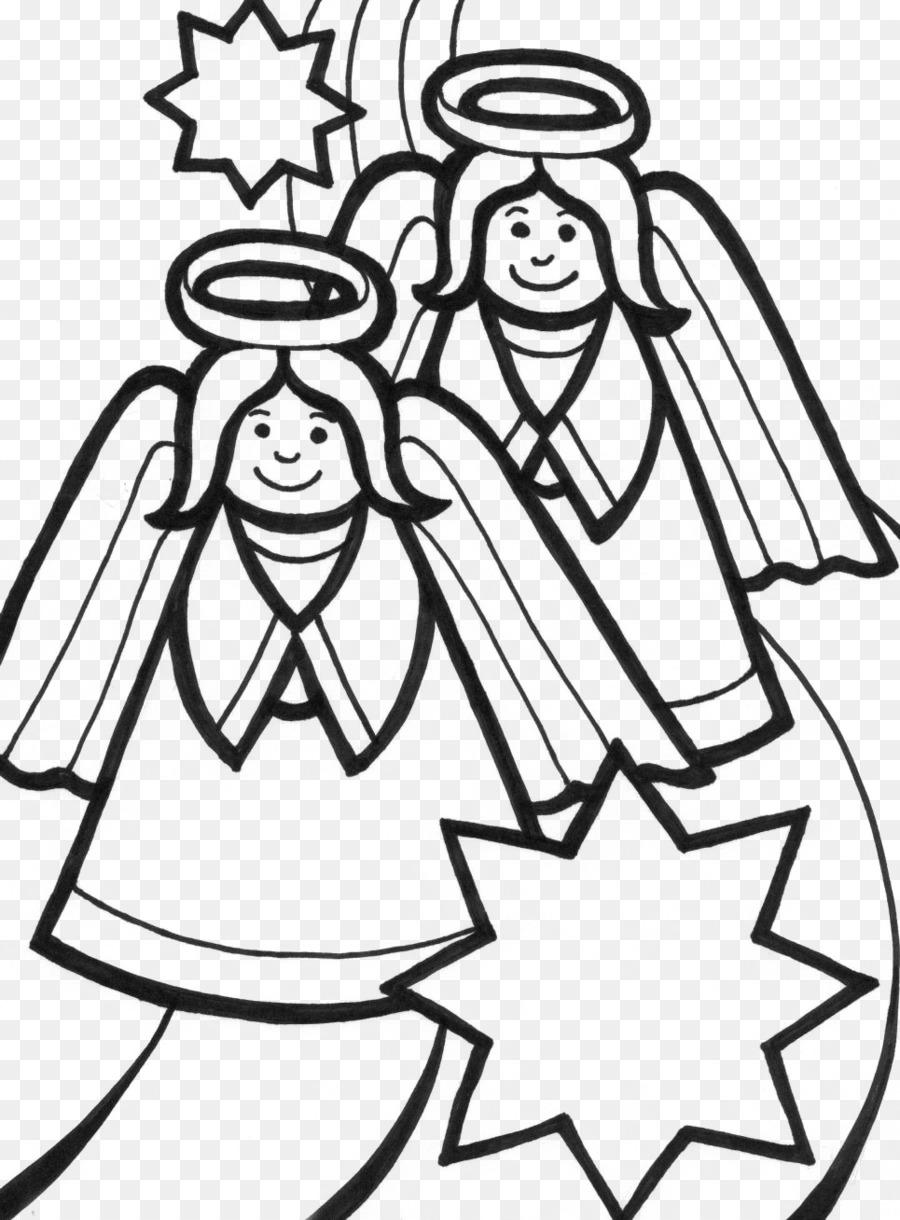 Sonriente ángel Libro Para Colorear De Niño Clip Art ángel De La
