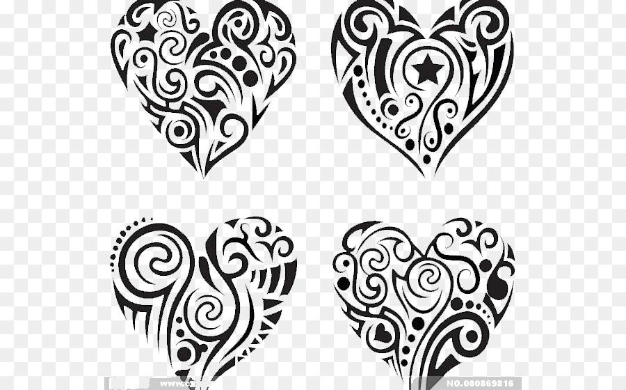 Kalp şeklinde Desen Kalp Boyama Png Indir 600560 Serbest