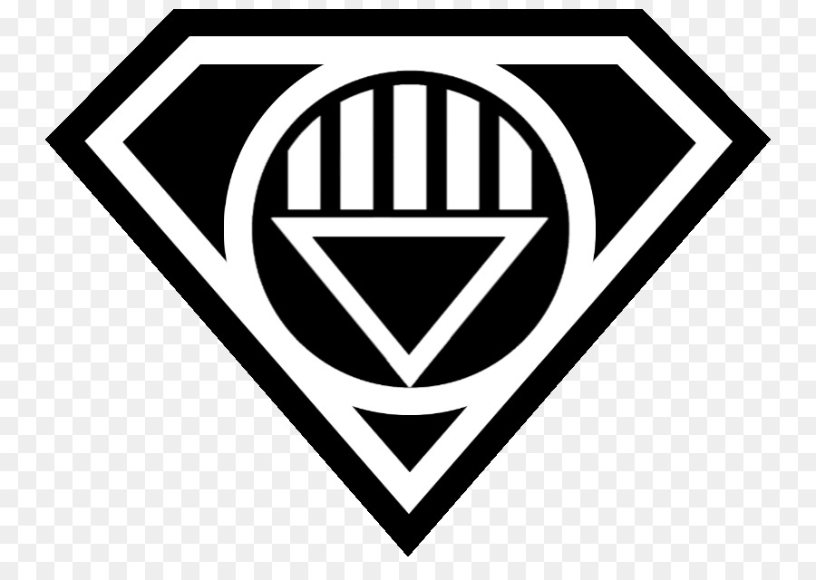 Superman Logo Black Lantern Corps White