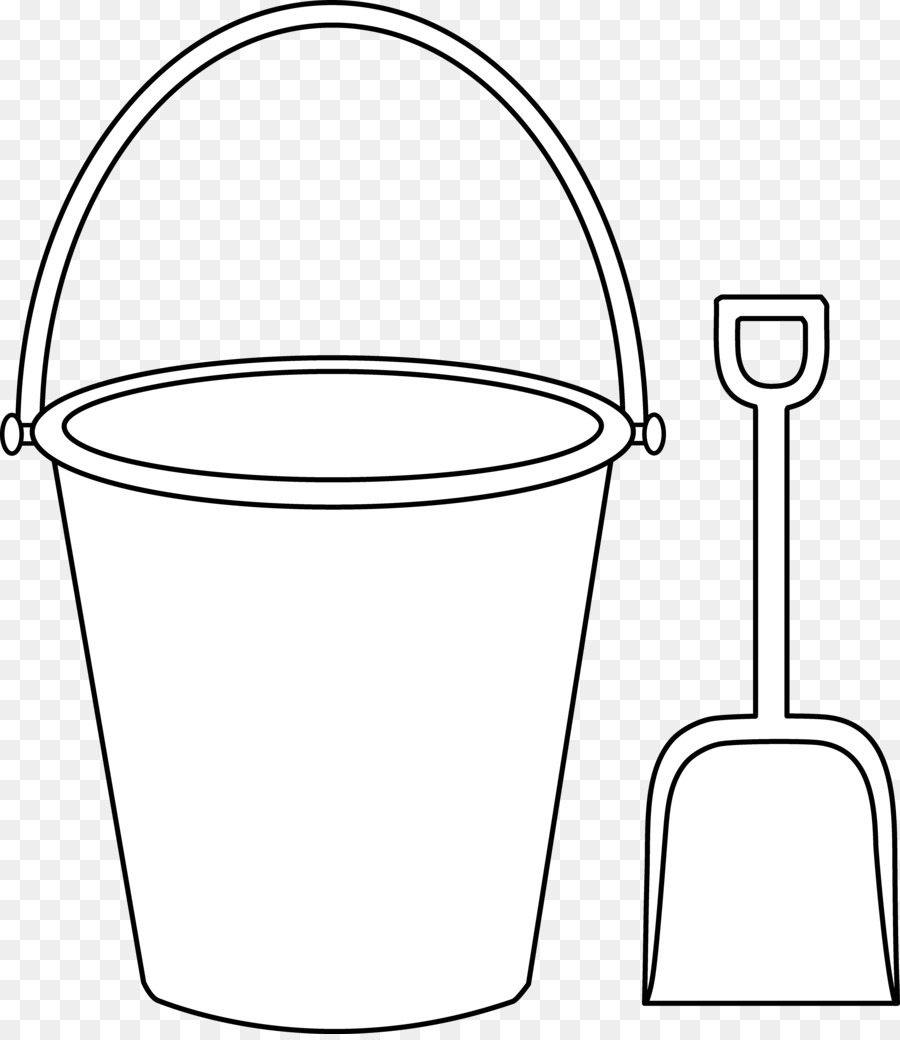 Image Result For Bucket Clip Art Coloring Book Page