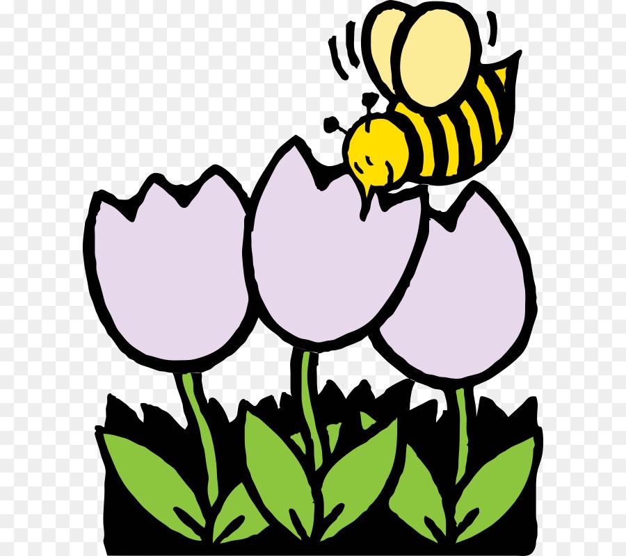 Honey Bee Coloring Book Flower Clip Art