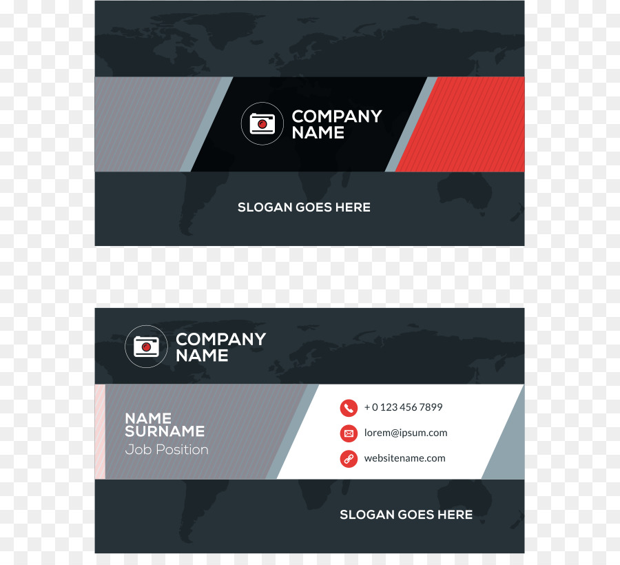Business Cards Red - Vector red smudge simple business cards png ...
