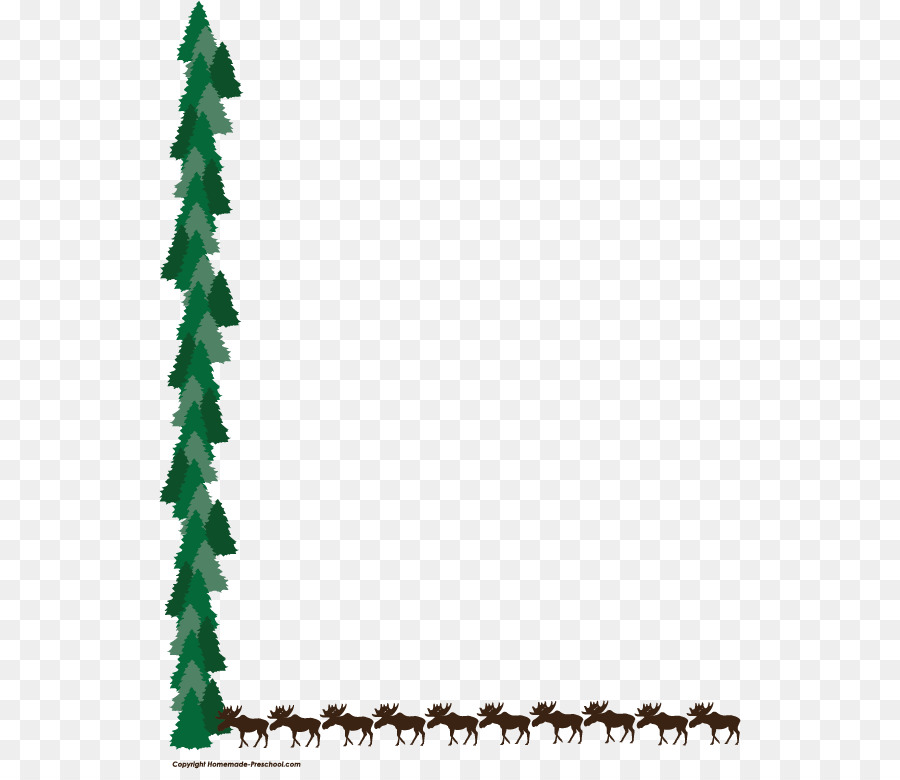 Moose Deer Tree Clip Art