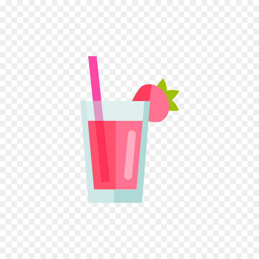 Erdbeer-Saft-Milkshake Nicht-alkoholische Getränke zu Trinken Stroh ...