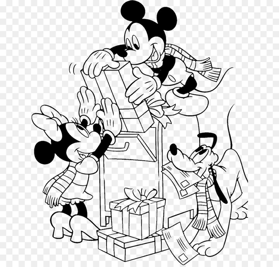 mickey mouse minnie mouse santa claus coloring book christmas christmas mouse pictures