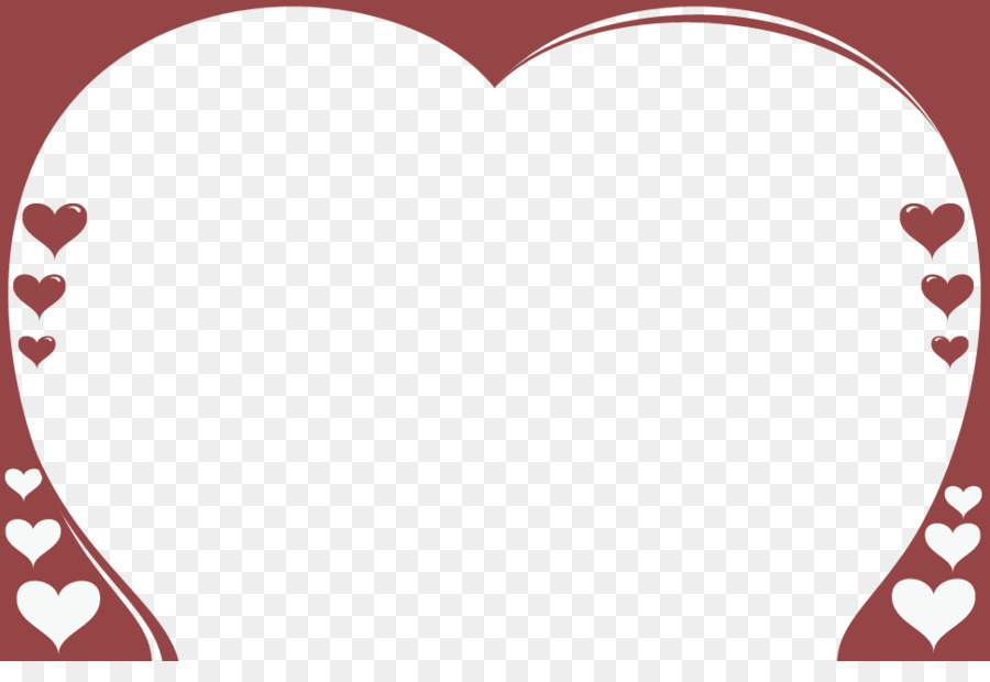 Valentine S Day Heart Clip Art Rose Page Border Png Download 969