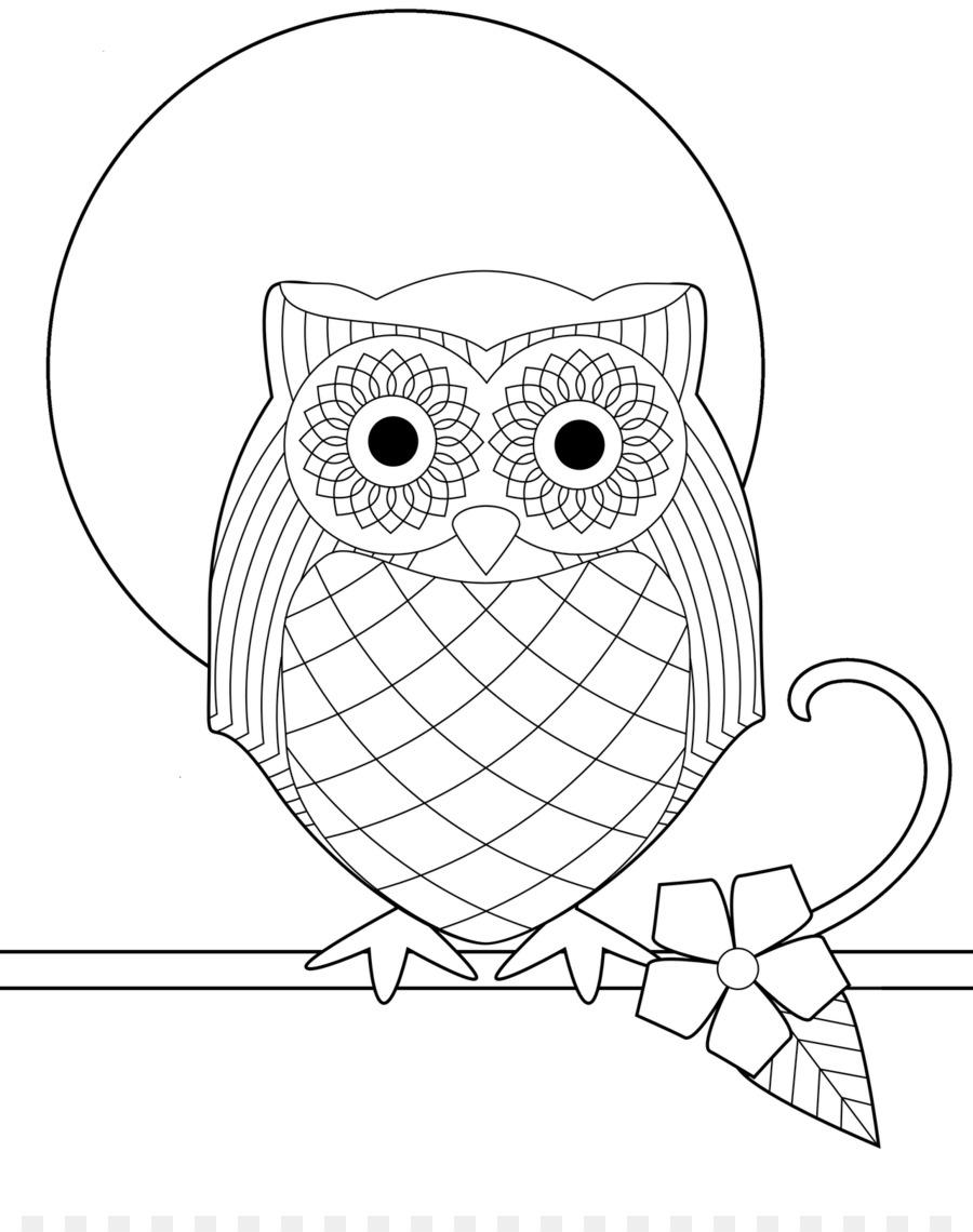 Snowy owl Pájaro libro de Colorear para Adultos - bebé lindo del ...