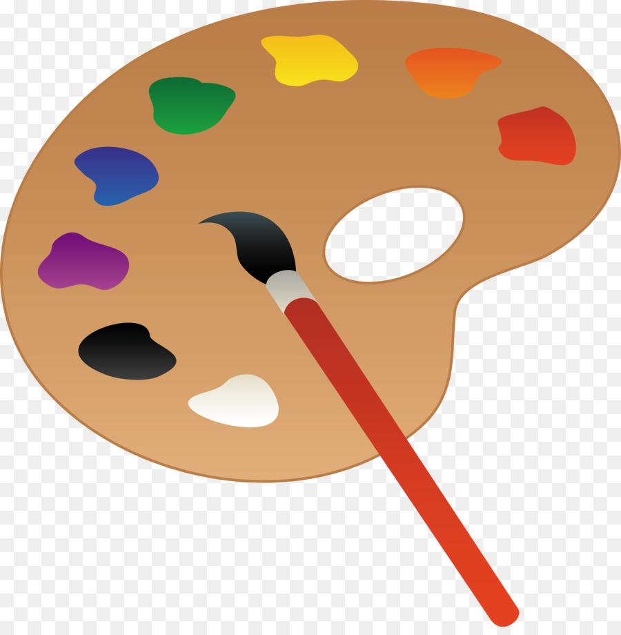Palette Oil Paint Painting Clip Art Cartoon Painting Cliparts Png