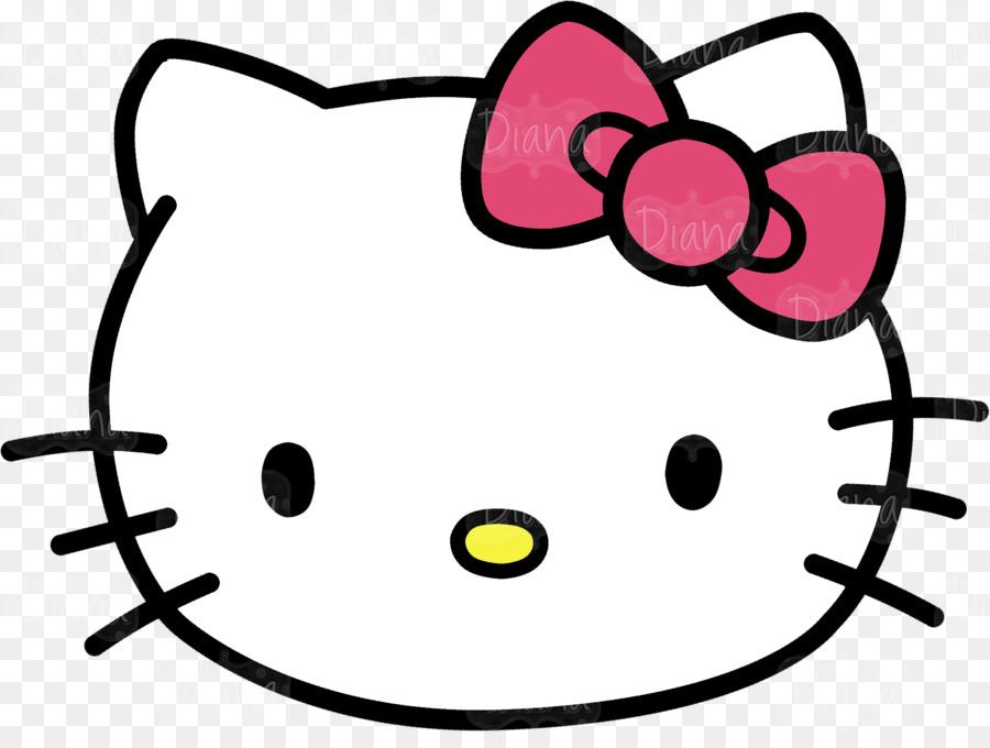 hello kitty kitten cat clip art kitty head cliparts png download