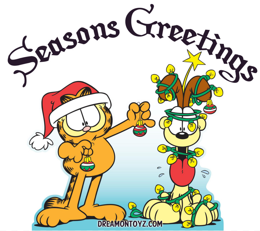 Odie Garfield Christmas Drawing Clip art - Holiday Cartoon Images