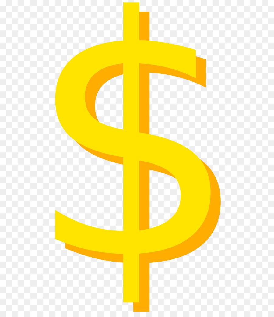Dollar sign orange. Gold png download free