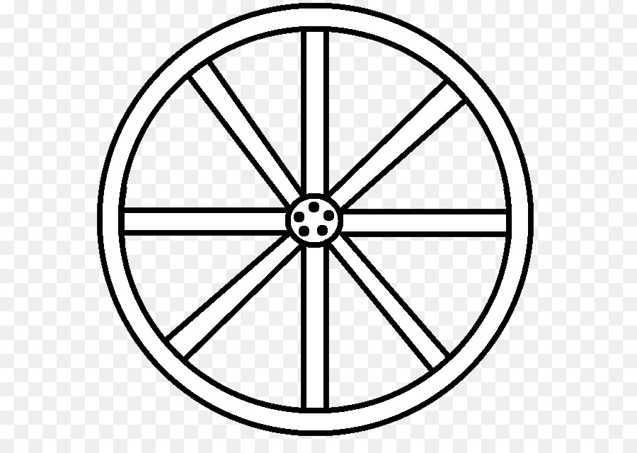 Wheel Coloring Book Black And White Clip Art