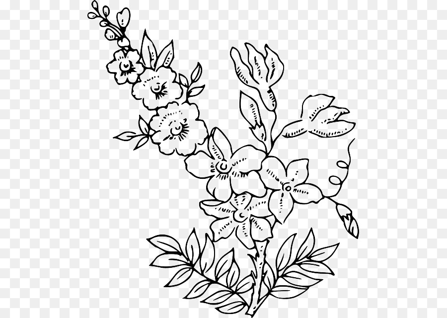 Simple Flower Outline coloring page | Flowers Templates