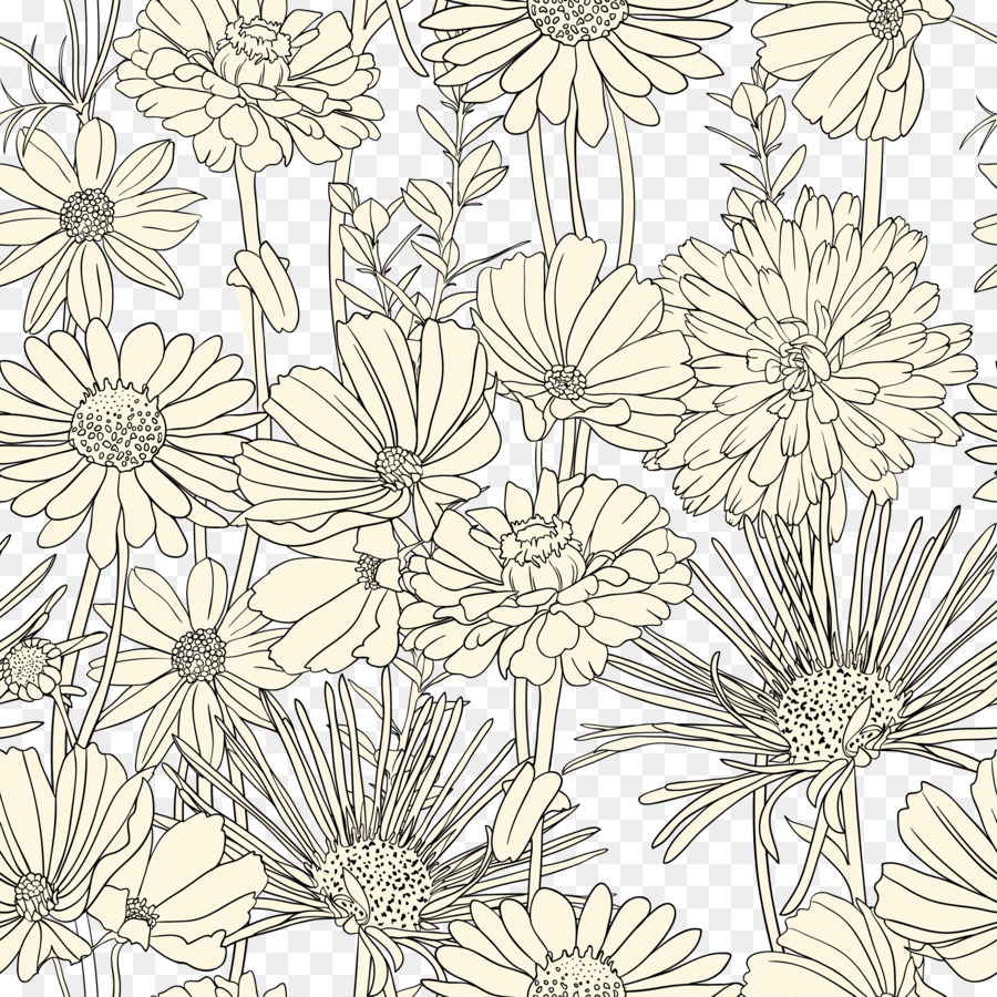 Draw Flowers Drawing Pattern Flowers Black And White Line Art
