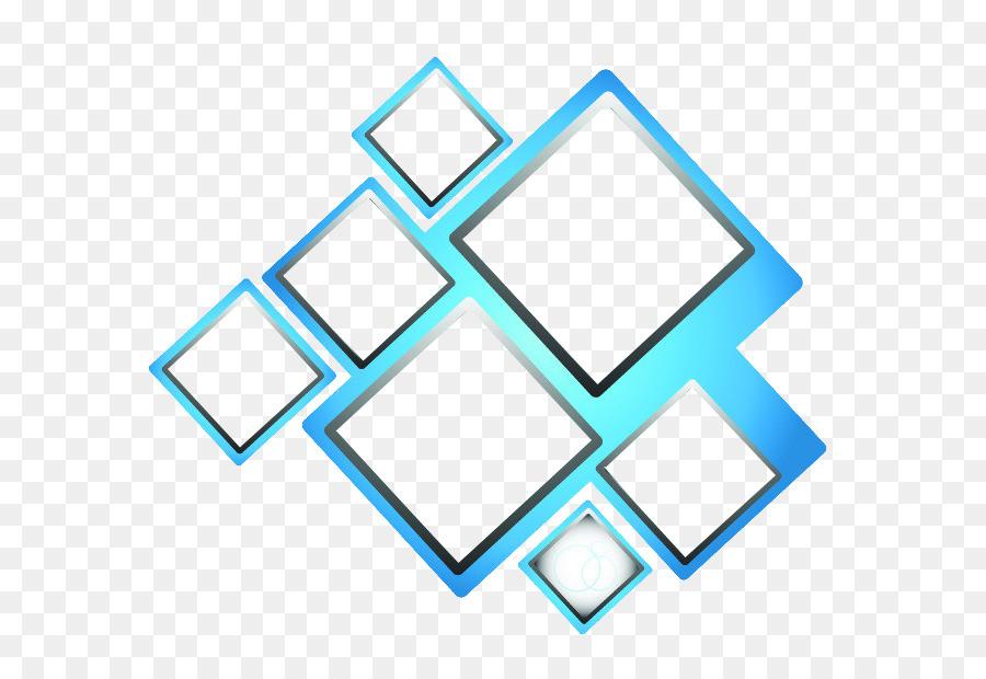 Blue Square Box Vector