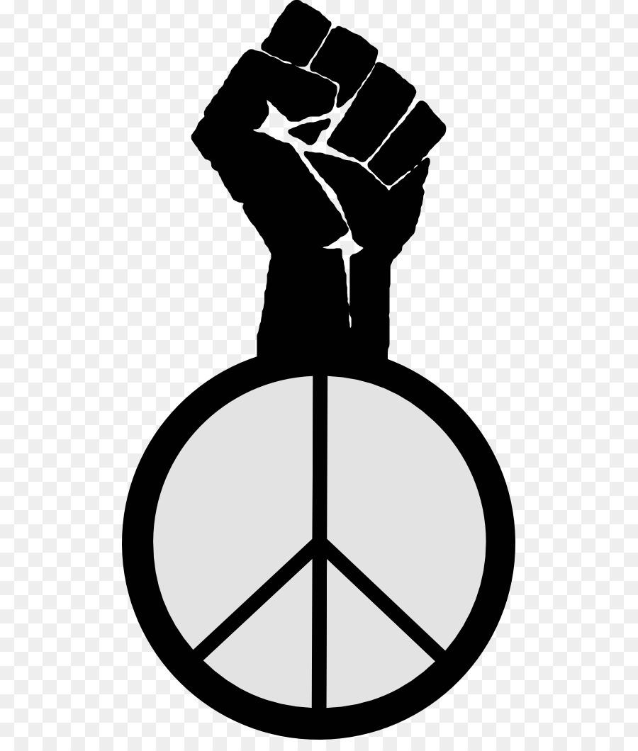 Peace Symbols Raised Fist Clip Art Female Symbole Png Download