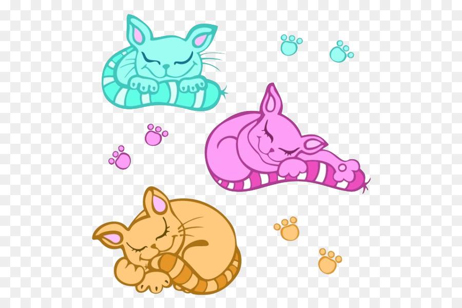 Kucing Kucing Fotografi Saham Clip Art Tiga Tidur Kartun Kucing