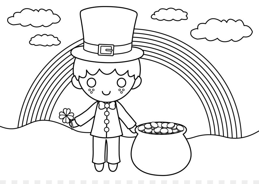 Irlanda libro para Colorear Duende de San Patricio, el Día del Niño ...