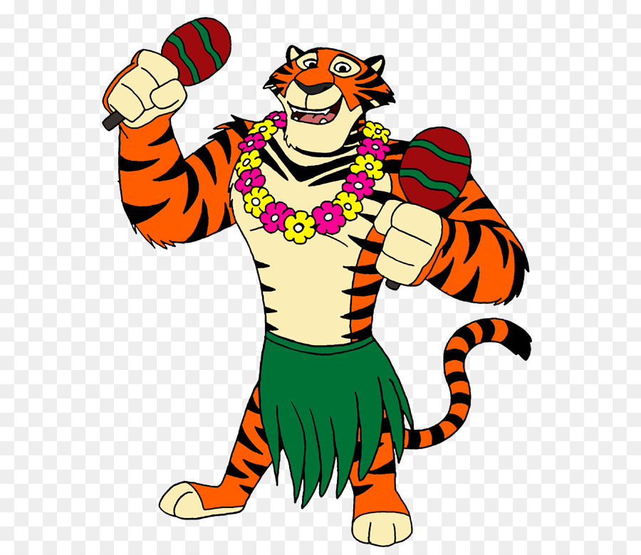 tiger hula cartoon dance clip art cartoon hula dancer png download rh kisspng com clipart hula dancer clipart hula girl