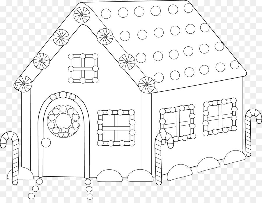 Casa de pan de jengibre bastón de Caramelo de Santa Claus - En ...