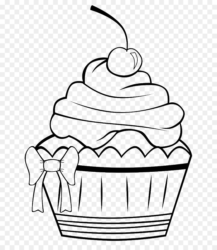 Cupcake Frosting & Icing Muffin Coloring book - Cupcake Draw png ...