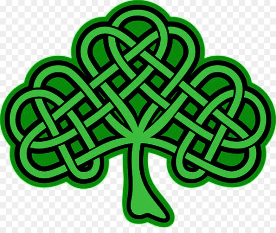 Shamrock Celtic knot Celts Four-leaf clover Clip art ...