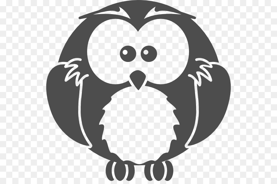 Owl Cartoon Drawing Clip Art Black And White Cartoon Owls Png