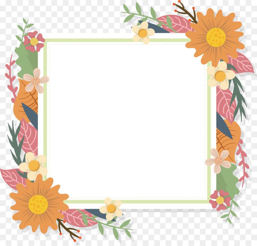Floral design Flower Euclidean vector Picture Frames - Romantic ...