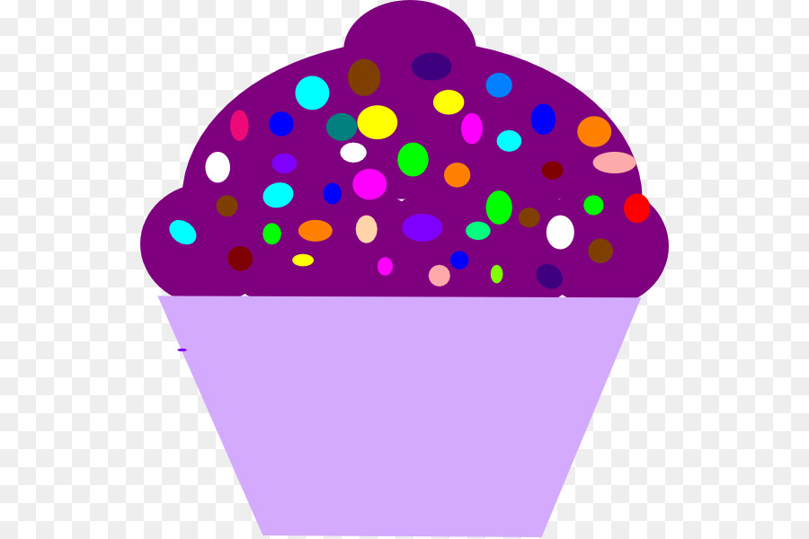 Cupcake Purple Birthday Cake Clip Art Sprinkles Cliparts Png