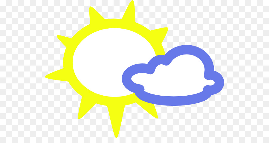 Weather Symbol Clip Art Weather Symbols Sun With Clouds Png