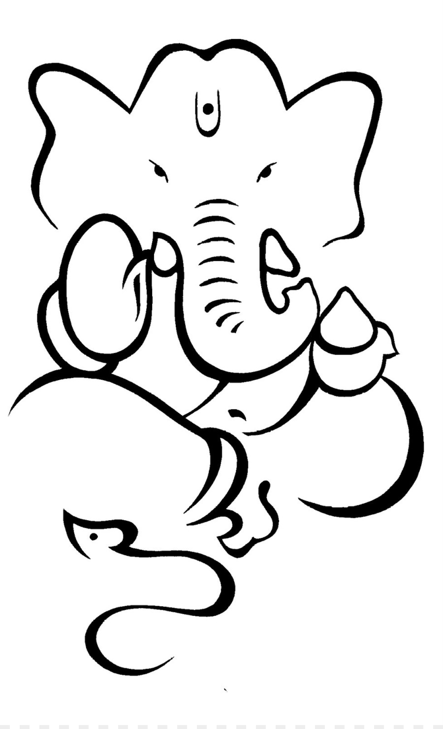 Photo To Line Art Software Free Download : Ganesha drawing hinduism deity sketch outline