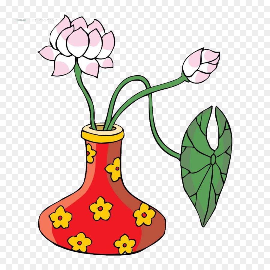 Floral Design Vase Flower Lotus Png Download 10241024 Free