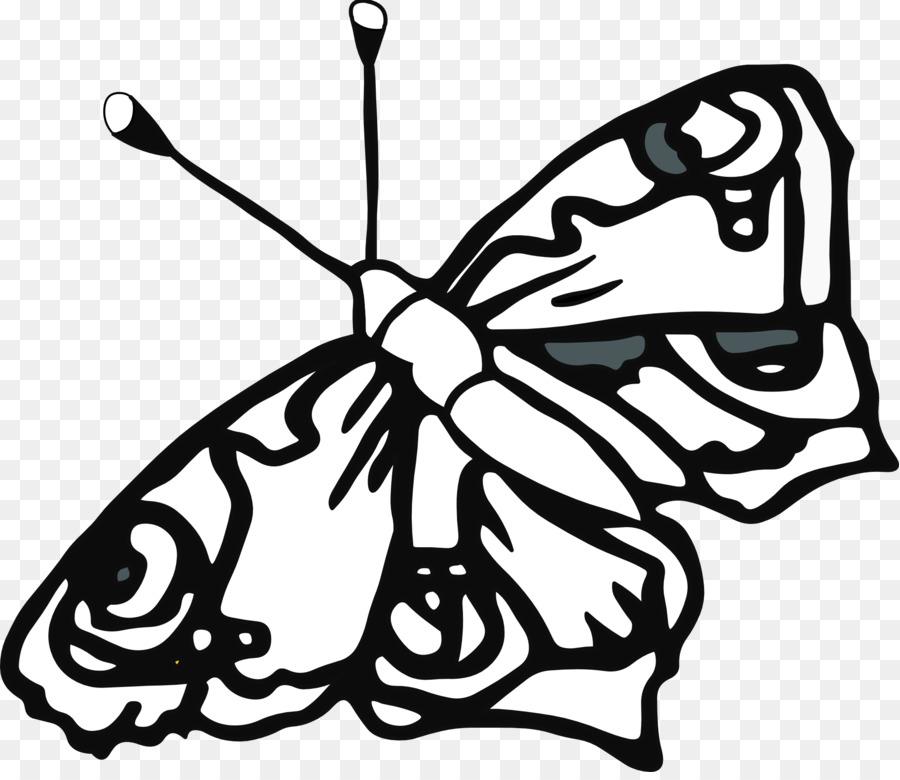 Mariposa libro para Colorear de Dibujo de la Línea de arte de Clip ...