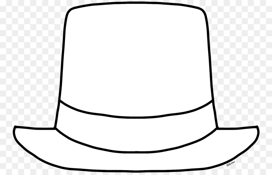 top hat black and white clip art hat outline cliparts png download rh kisspng com white clipart frame.png white clipart flowers