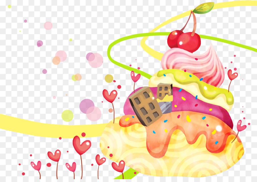 Ice cream Torte Dessert Animation Desktop Wallpaper - Cartoon hand-drawn animation background png download - 1600*1120 - Free Transparent Ice Cream png ...