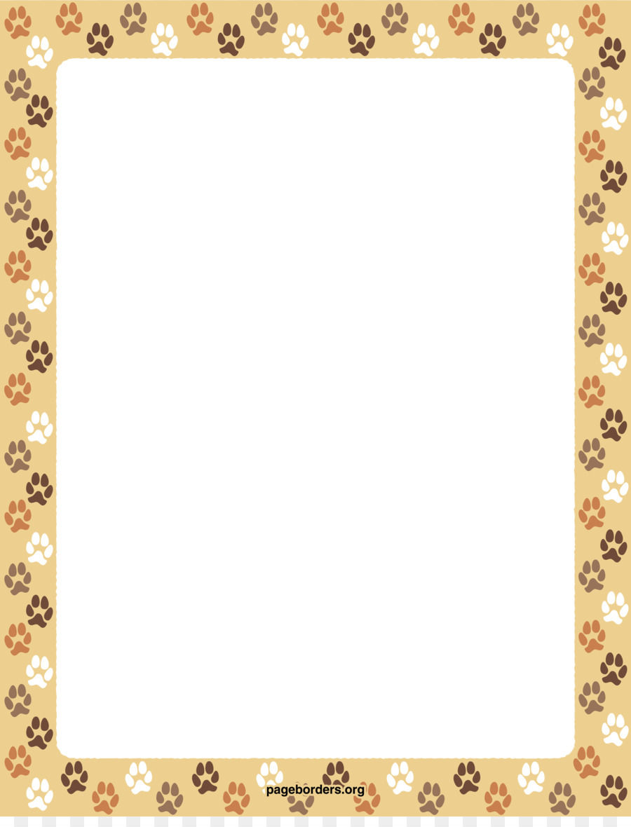 Dog Cat Paper Paw Clip art - Dog Borders png download - 2550*3301 ...