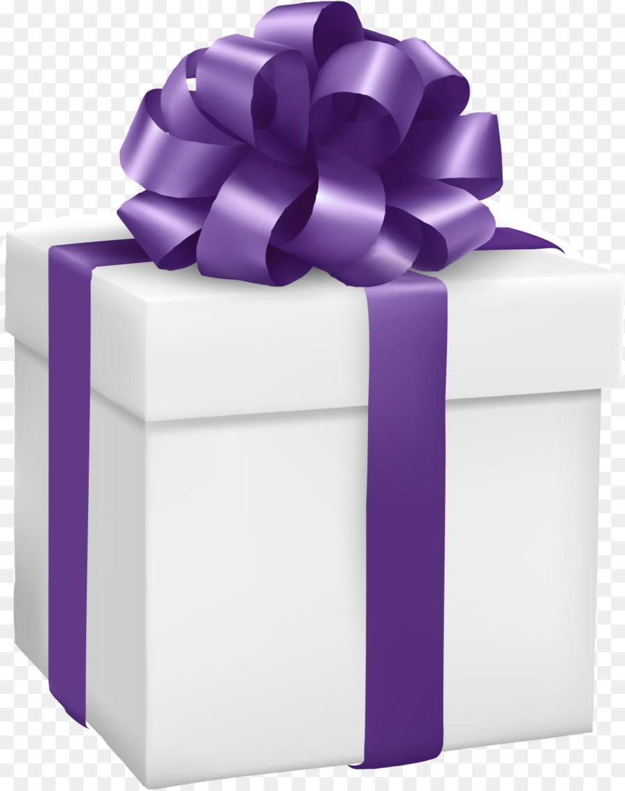Gift Box Purple Clip art - Small fresh white gift box png download ...