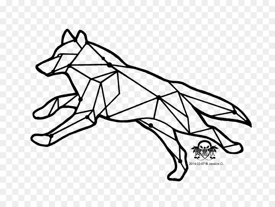 Gray Wolf Tattoo Drawing Coyote Clip Art Running Wolf Tattoo Png