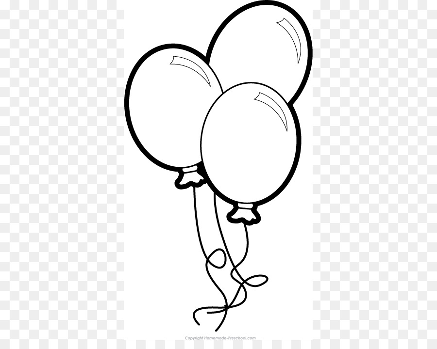Balloon Black And White png download - 389*702 - Free ...