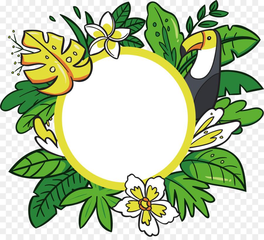 Hawaii Floral design Cartoon Clip art - Cartoon Hawaiian ...