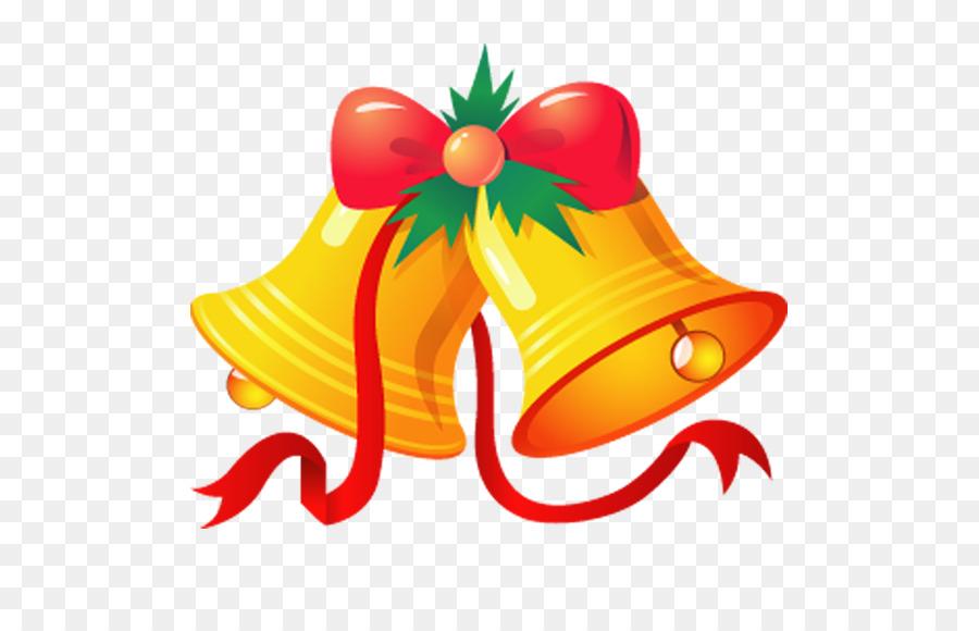 Jingle Bell Christmas Clip Art   Golden Christmas Bells