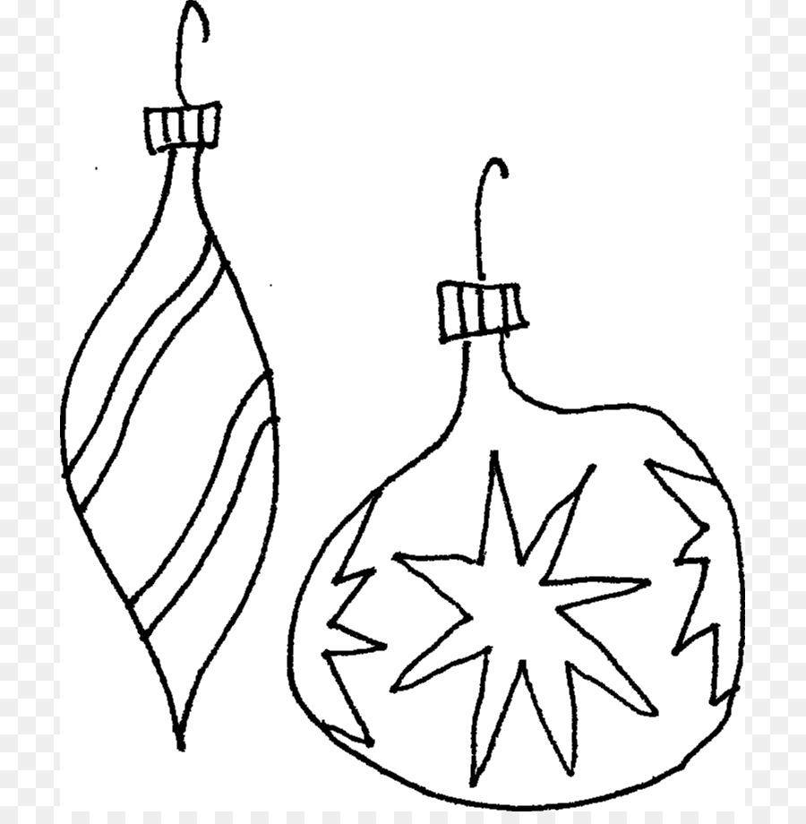 Adorno de navidad para Colorear libro de decoración de Navidad Clip ...