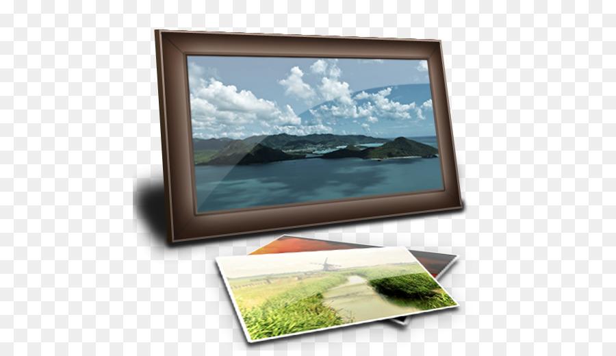 marco de imagen monitor de ordenador de pantalla plana dispositivo ...